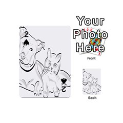 Dog Cat Pet Silhouette Animal Playing Cards 54 (mini)