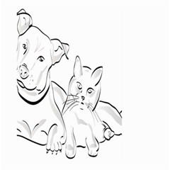 Dog Cat Pet Silhouette Animal Large Garden Flag (two Sides) by Sapixe