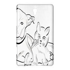 Dog Cat Pet Silhouette Animal Samsung Galaxy Tab S (8 4 ) Hardshell Case