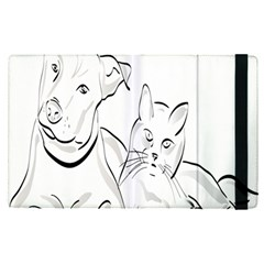 Dog Cat Pet Silhouette Animal Apple Ipad Pro 9 7   Flip Case
