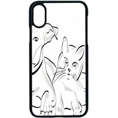 Dog Cat Pet Silhouette Animal Apple Iphone X Seamless Case (black)