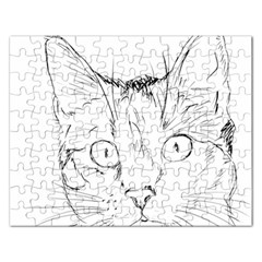 Cat Feline Animal Pet Rectangular Jigsaw Puzzl