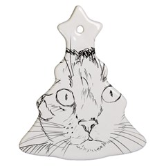 Cat Feline Animal Pet Christmas Tree Ornament (two Sides) by Sapixe