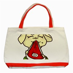 Doggy Dog Puppy Animal Pet Figure Classic Tote Bag (red)
