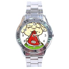 Doggy Dog Puppy Animal Pet Figure Stainless Steel Analogue Watch