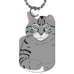 Cat Kitty Gray Tiger Tabby Pet Dog Tag (one Side)