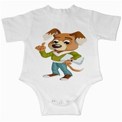 Dog Pet Dressed Point Papers Infant Creepers