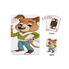 Dog Pet Dressed Point Papers Playing Cards (mini)