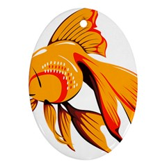 Goldfish Fish Tank Water Tropical Ornament (oval)