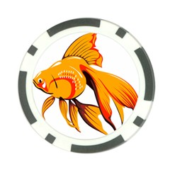 Goldfish Fish Tank Water Tropical Poker Chip Card Guard (10 Pack)