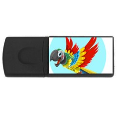 Parrot Animal Bird Wild Zoo Fauna Rectangular Usb Flash Drive