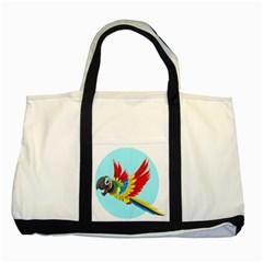 Parrot Animal Bird Wild Zoo Fauna Two Tone Tote Bag