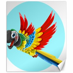 Parrot Animal Bird Wild Zoo Fauna Canvas 20  X 24