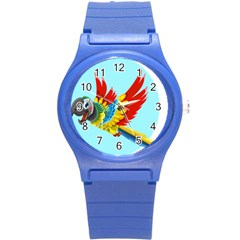 Parrot Animal Bird Wild Zoo Fauna Round Plastic Sport Watch (s) by Sapixe