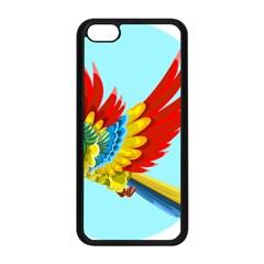 Parrot Animal Bird Wild Zoo Fauna Apple Iphone 5c Seamless Case (black) by Sapixe