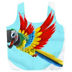Parrot Animal Bird Wild Zoo Fauna Full Print Recycle Bags (l)  by Sapixe