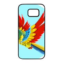 Parrot Animal Bird Wild Zoo Fauna Samsung Galaxy S7 Edge Black Seamless Case