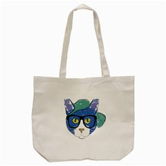 Drawing Cat Pet Feline Pencil Tote Bag (cream)