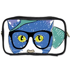 Drawing Cat Pet Feline Pencil Toiletries Bags