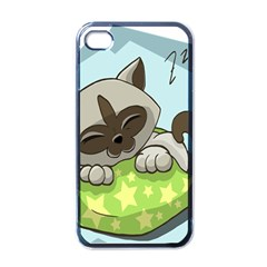 Kitten Kitty Cat Sleeping Sleep Apple Iphone 4 Case (black)
