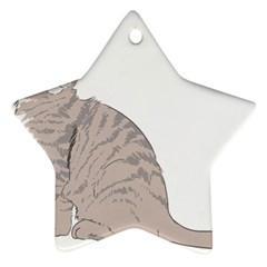 Kitten Cat Drawing Line Art Line Ornament (star)