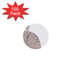 Kitten Cat Drawing Line Art Line 1  Mini Buttons (100 Pack)