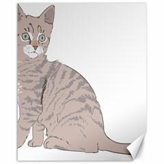 Kitten Cat Drawing Line Art Line Canvas 16  X 20