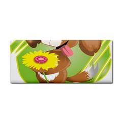 Dog Character Animal Flower Cute Hand Towel