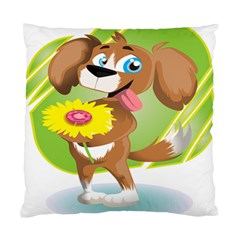 Dog Character Animal Flower Cute Standard Cushion Case (two Sides)