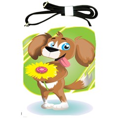 Dog Character Animal Flower Cute Shoulder Sling Bags by Sapixe