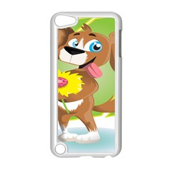 Dog Character Animal Flower Cute Apple Ipod Touch 5 Case (white) by Sapixe