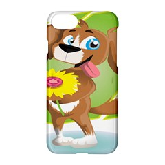 Dog Character Animal Flower Cute Apple Iphone 7 Hardshell Case by Sapixe