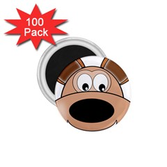 Doh Puppy Happy Pet Hound Animal 1 75  Magnets (100 Pack)  by Sapixe