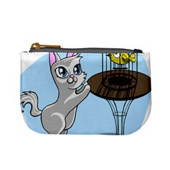 Cat Bird Cage Hunt Hunting Pet Mini Coin Purses