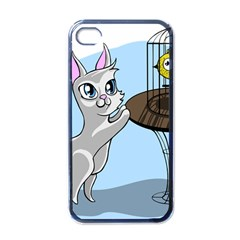 Cat Bird Cage Hunt Hunting Pet Apple Iphone 4 Case (black) by Sapixe