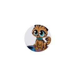 Kitty Cat Big Eyes Ears Animal 1  Mini Magnets