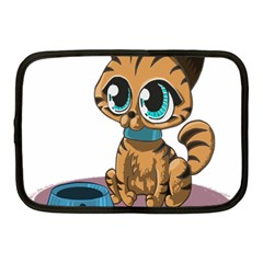 Kitty Cat Big Eyes Ears Animal Netbook Case (medium)