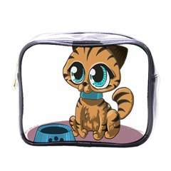 Kitty Cat Big Eyes Ears Animal Mini Toiletries Bags
