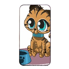 Kitty Cat Big Eyes Ears Animal Apple Iphone 4/4s Seamless Case (black)