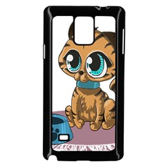 Kitty Cat Big Eyes Ears Animal Samsung Galaxy Note 4 Case (black)