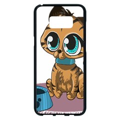Kitty Cat Big Eyes Ears Animal Samsung Galaxy S8 Plus Black Seamless Case