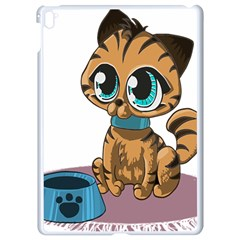 Kitty Cat Big Eyes Ears Animal Apple Ipad Pro 9 7   White Seamless Case