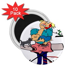 Housewife Multitasking Woman 2 25  Magnets (10 Pack)