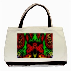 Faces Basic Tote Bag (two Sides)