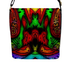 Faces Flap Messenger Bag (l)