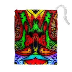 Faces Drawstring Pouches (extra Large)