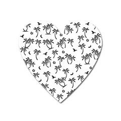 Tropical Pattern Heart Magnet