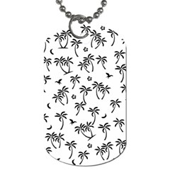 Tropical Pattern Dog Tag (two Sides) by Valentinaart