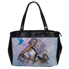 Fairy In The Sky With Fantasy Bird Office Handbags