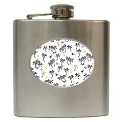 Tropical Pattern Hip Flask (6 Oz) by Valentinaart